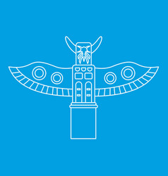 Totem pole icon outline style vector