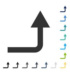 Turn forward icon vector