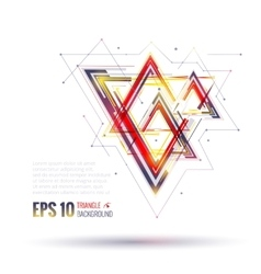 Geometric polygonal elements scientific future vector