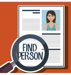 Woman search find person vector