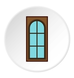 Interior door icon flat style vector