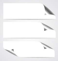 Paper curl banners vector
