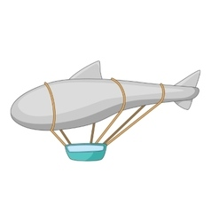Flying dirigible icon cartoon style vector image