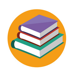 Text book school icon vector