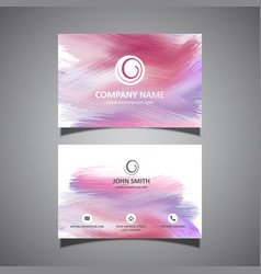 business card with paint strokes design vector image