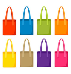 Colored bags templates set of promotional gifts vector