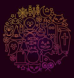 Halloween line icon circle concept vector