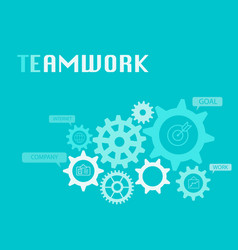 Teamwork graphic for business concept vector