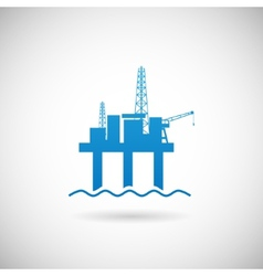 Oil offshore platform colloquially rig symbol icon vector