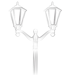 Streetlight on white background vector