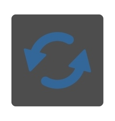Refresh ccw flat cobalt and gray colors rounded vector