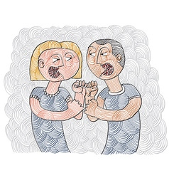 Quarrel between man and woman conceptual vector