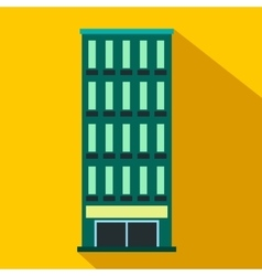 Modern building flat icon vector
