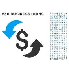 Update cost icon with flat set vector