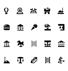 Amusement park icons 2 vector