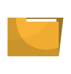 Information folder isolated flat icon vector