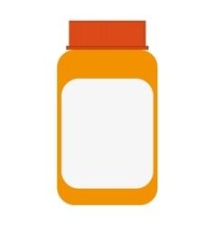 Orange medicine bottle icon vector