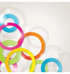 Abstract background with circles and squares vector image vector image