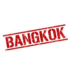 Bangkok red square stamp vector