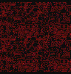 Black friday seamless pattern vector