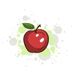 Bright Juicy Apple vector image vector image