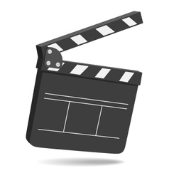 Clapper board vector image