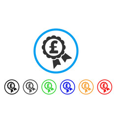 featured pound price label rounded icon vector image vector image