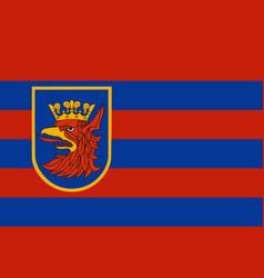 Flag of szczecin in west pomeranian voivodeship vector