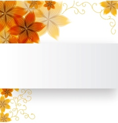 flowers on a paper background vector image