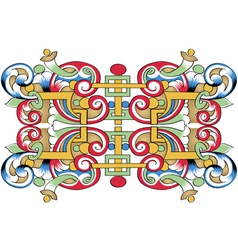 fragment of drawing orthodoxy pattern russia vector image vector image