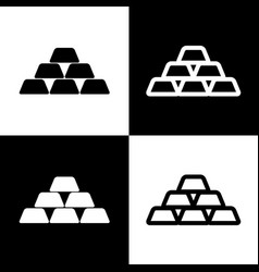 Gold simple sign black and white icons vector