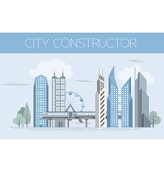 Great city map creator colour version house vector