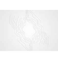 Grey technology abstract background with circuit vector