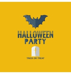 halloween party flat design background vector image