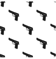 handgun icon in black style isolated on white vector image