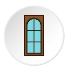 Interior door icon flat style vector