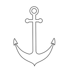 isolated anchor vector image