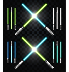 Light swords star war laser weapons laser sword vector