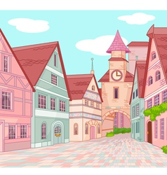 Little Europe town vector image vector image