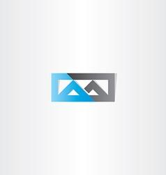 logo m letter m blue black icon vector image