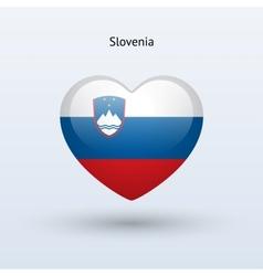 Love slovenia symbol heart flag icon vector