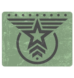 Military style grunge emblem vector