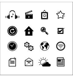 Mobile Social Media Icons vector image vector image