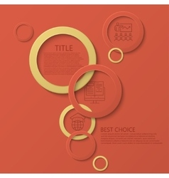modern circle e-learning education vector image