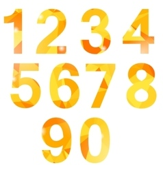 Orange polygonal numbers vector