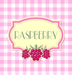 Raspberry label vector image vector image