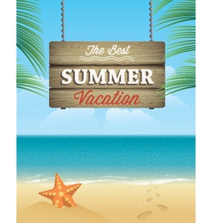 Summer vacation greeting card vector