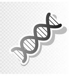 The dna sign new year blackish icon on vector