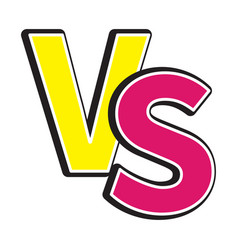 Versus letters icon or vs battle fight competition vector