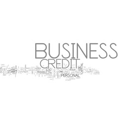 Why business credit is a must for every business vector